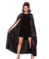 Halloween Cape - Black Satin (AC9037)